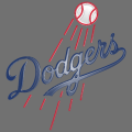Los Angeles Dodgers Plastic Effect Logo iron on sticker