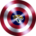 Captain American Shield With Jacksonville Jaguars Logo decal sticker