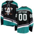 Anaheim Ducks Custom Letter and Number Kits for Black Jersey