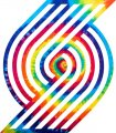 Portland Trail Blazers rainbow spiral tie-dye logo iron on sticker