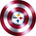 Captain American Shield With Pittsburgh Steelers Logo decal sticker