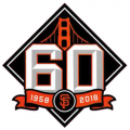 San Francisco Giants 2018 Anniversary Logo decal sticker