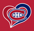 Montreal Canadiens Heart Logo decal sticker