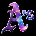 Galaxy Oakland Athletics Logo decal sticker