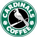 St. Louis Cardinals Starbucks Coffee Logo iron on sticker