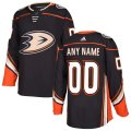 Anaheim Ducks Custom Letter and Number Kits for Black home Jersey