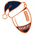Denver Broncos Football Christmas hat logo iron on sticker
