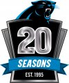 Carolina Panthers 2014 Anniversary Logo decal sticker