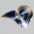 Los Angeles Rams Stainless steel logo iron on sticker