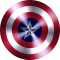 Captain American Shield With Dallas Cowboys Logo decal sticker