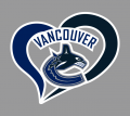 Vancouver Canucks Heart Logo decal sticker