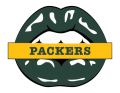Green Bay Packers Lips Logo decal sticker