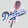 Los Angeles Dodgers Stainless steel logo iron on sticker