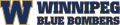 Winnipeg Blue Bombers 2012-Pres Wordmark Logo decal sticker