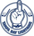 Number One Hand Tampa Bay Lightning logo iron on sticker