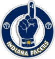 Number One Hand Indiana Pacers logo iron on sticker