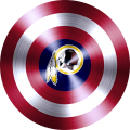 Captain American Shield With Washington Redskins Logo decal sticker