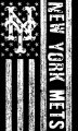 New York Mets Black And White American Flag logo iron on sticker