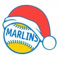 Miami Marlins Baseball Christmas hat logo decal sticker
