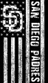 San Diego Padres Black And White American Flag logo iron on sticker