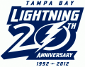 Tampa Bay Lightning 2012 13 Anniversary Logo iron on sticker