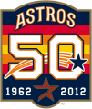 Houston Astros 2012 Anniversary Logo decal sticker