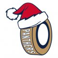 Florida Panthers Hockey ball Christmas hat logo decal sticker