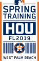 Houston Astros 2019 Event Logo decal sticker