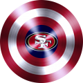 Captain American Shield With San Francisco 49ers Logo decal sticker