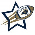 Los Angeles Rams Football Goal Star logo iron on sticker