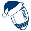 Indianapolis Colts Football Christmas hat logo iron on sticker