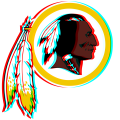 Phantom Washington Redskins logo iron on sticker
