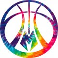 Milwaukee Bucks rainbow spiral tie-dye logo iron on sticker