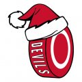 New Jersey Devils Hockey ball Christmas hat logo decal sticker